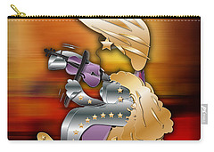 Carry-all Pouch featuring the digital art Violin Player by Marvin Blaine
