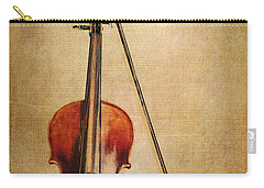 Violin With Bow Carry-all Pouch