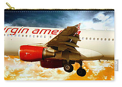 Flight Carry-all Pouch featuring the photograph Virgin America A320 by Aaron Berg