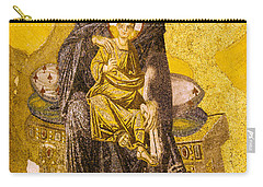 Virgin Mary With Baby Jesus Mosaic Carry-all Pouch