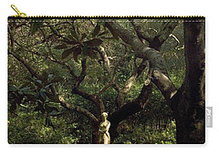 Carry-all Pouch featuring the photograph Virginia Dare Statue by Greg Reed