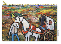 Carry-all Pouch featuring the painting Visit The In-laws by Xueling Zou