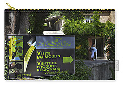 Carry-all Pouch featuring the photograph Visite Du Moulin by Allen Sheffield