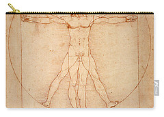 Vitruvian Man Carry-all Pouch by Bill Cannon