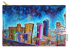 Viva Las Vegas A Fun And Funky Pop Art Painting Of The Vegas Skyline And Sign By Megan Duncanson Carry-all Pouch