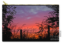 Carry-all Pouch featuring the photograph Vivid Sunset by Liz  Alderdice