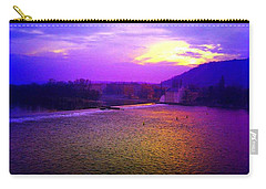 Vltava River Prague Sunset Carry-all Pouch