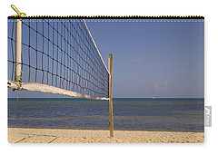 Vollyball Net On The Beach Carry-all Pouch