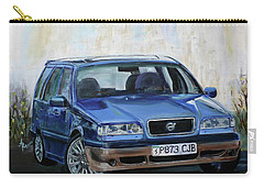 Carry-all Pouch featuring the painting Volvo by Anna Ruzsan