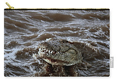 Voracious Crocodile In Water Carry-all Pouch by Ramabhadran Thirupattur