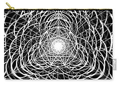 Carry-all Pouch featuring the drawing Vortex Equilibrium by Derek Gedney