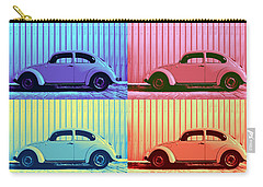 Vw Beetle Pop Art Quad Carry-all Pouch