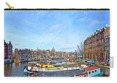 Carry-all Pouch featuring the photograph Waalseilandgracht Amsterdam by Frans Blok