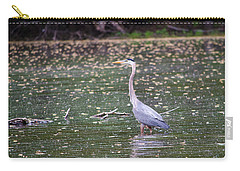 Carry-all Pouch featuring the photograph Wading Crane by Susan  McMenamin
