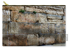 Carry-all Pouch featuring the photograph Wailing Wall In Israel by Doc Braham