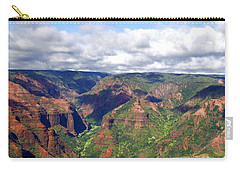 Carry-all Pouch featuring the photograph Waimea Canyon by Amy McDaniel