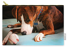 Carry-all Pouch featuring the photograph Wait For It      Wait For It by Robert McCubbin