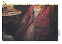 Carry-all Pouch featuring the painting Waiting by Donna Tucker