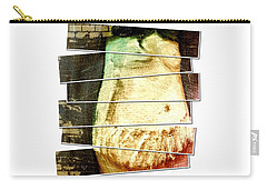 Carry-all Pouch featuring the digital art Waiting For Baby by Ann Calvo