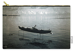 Carry-all Pouch featuring the photograph Waiting In Blue by Lucinda Walter
