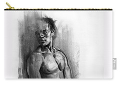 Carry-all Pouch featuring the drawing Waiting by Paul Davenport