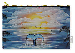 Carry-all Pouch featuring the painting Wale Tales by Dianna Lewis