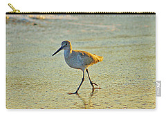 Carry-all Pouch featuring the photograph Walk On The Beach by Cynthia Guinn