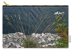 Carry-all Pouch featuring the photograph Flowers In Rock by Brenda Brown