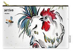 Carry-all Pouch featuring the painting Walkabout With Buddha Quote I by Bill Searle