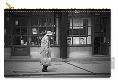 Walking Down The Street Carry-all Pouch by Chevy Fleet