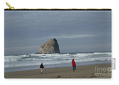 Carry-all Pouch featuring the photograph Walking On The Beach by Susan Garren