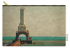 Walking On The Breakwater Carry-all Pouch by Mary Machare