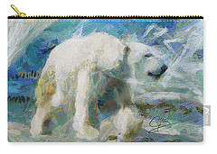 Carry-all Pouch featuring the painting Cold As Ice by Greg Collins