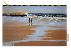 Walking The Beach Carry-all Pouch by Frank Wilson