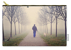 Walking With The Dog Carry-all Pouch