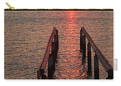 Carry-all Pouch featuring the photograph Walkway To The Sun by Alan Socolik