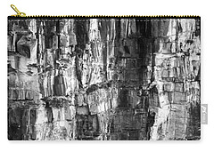 Carry-all Pouch featuring the photograph Wall Of Rock by Miroslava Jurcik