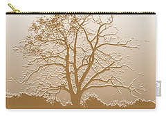 Walnut Tree Series Plaster Golden Carry-all Pouch
