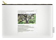 Walt Whitman - I Saw In Louisiana A Live-oak Growing Carry-all Pouch