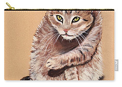 Carry-all Pouch featuring the painting Want To Play by Anastasiya Malakhova