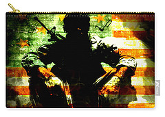 Carry-all Pouch featuring the painting War Is Hell by Brian Reaves