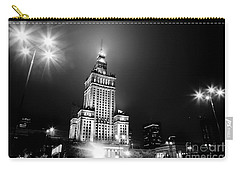 Warsaw Poland Downtown Skyline At Night Carry-all Pouch