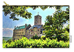 Carry-all Pouch featuring the photograph Wartburg Castle - Eisenach Germany - 1 by Mark Madere