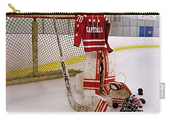 Carry-all Pouch featuring the photograph Washington Capitals Braden Holtby Winter Classic 2015 Jersey by Lisa Wooten