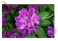 Washington Coastal Rhododendron Carry-all Pouch by Ed  Riche