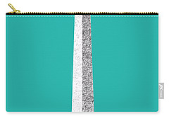 Washington Dc Skyline Washington Monument - Teal Carry-all Pouch