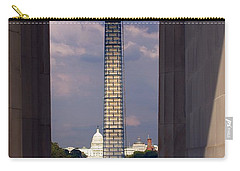 Washington Monument And Capitol 2 Carry-all Pouch by Stuart Litoff