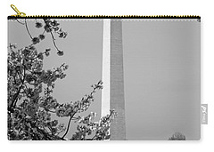 Washington Monument And Cherry Blossoms In April Carry-all Pouch