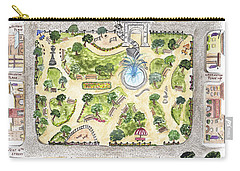 Washington Square Park Map Carry-all Pouch