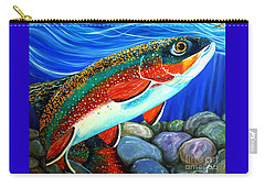 Brook Trout  Carry-all Pouch by Jackie Carpenter